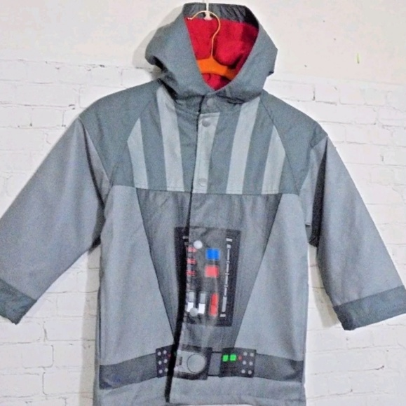 Western Chief Star Wars Hooded Raincoat for Boys Water Resistant Jacket